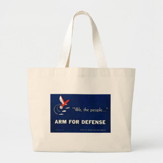 We the People Arm for Defense Vintage World War II Jumbo Tote Bag