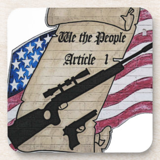 We The People Article 1 2nd Amendment Guns and Drink Coasters
