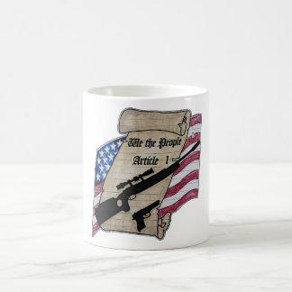 ( We The People ) Article 1 2nd Amendment Guns and Coffee Mugs
