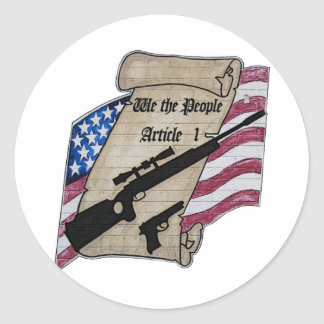 ( We The People ) Article 1 2nd Amendment Guns and Sticker