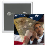 We the People...Barack Obama & the Constitution 15 Cm Square Badge