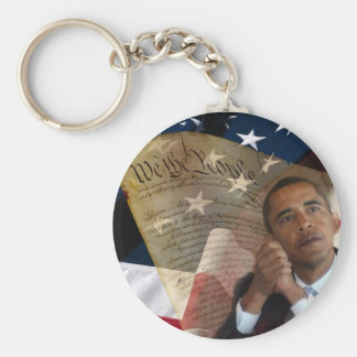 We the People...Barack Obama & the Constitution Basic Round Button Key Ring
