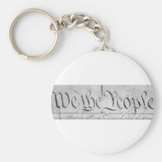 We The People Black n White Keychain