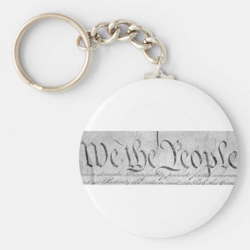 We The People Black n White Keychain