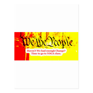 We The People Change YOGA The MUSEUM Zazzle Gifts Postcard