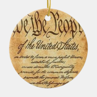 We The People Christmas Ornament