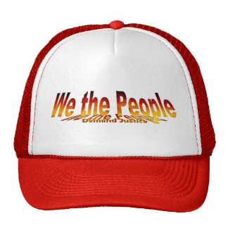 ~ We The People,,* Colorful Series: Demand #Justic Hats