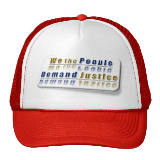 ~ We The People,,* Colorful Series: Demand #Justic Trucker Hats