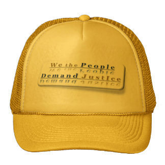 ~ We The People,,* Colorful Series: Demand #Justic Cap