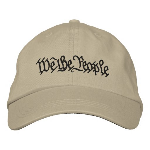 WE THE PEOPLE... EMBROIDERED HATS