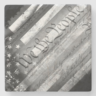 We the People Industrial Flag Stone Coaster