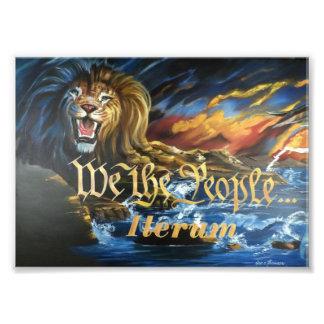 we the people iterum lion photo print
