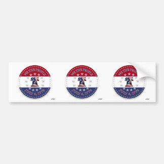 We The People July 4 1776 Bell with 13 50 Stars Bumper Sticker