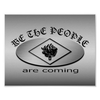 We the People Metallic Shield Logo with Torch Posters