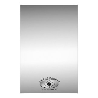 We the People Metallic Shield Logo with Torch Stationery