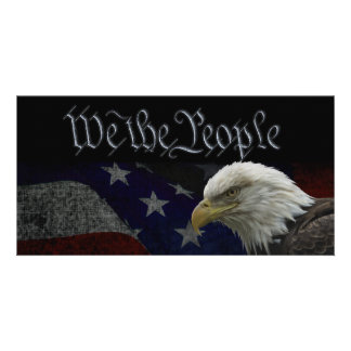 We The People Patriotic Card Picture Card