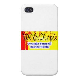 We The People Remake Yourself The MUSEUM Zazzle Gi iPhone 4 Case