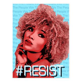 We The People RESIST Art Postcard