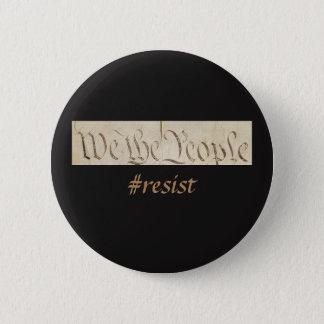 We the People Resist Black 6 Cm Round Badge