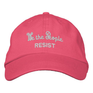 We the People Resist Pink Cat Ears Summer Embroidered Baseball Cap