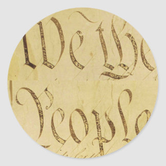 We The People Round Sticker
