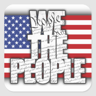 WE THE PEOPLE SQUARE STICKERS