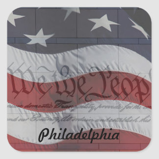 We the People Square Sticker