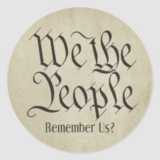 We the People Round Sticker