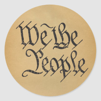 We The People Round Stickers