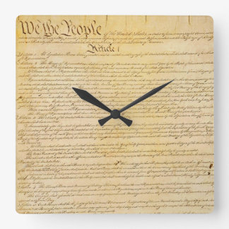 We The People U.S. Constitution Wall Clock