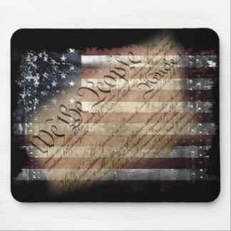 We The People Vintage American Flag Mousepad