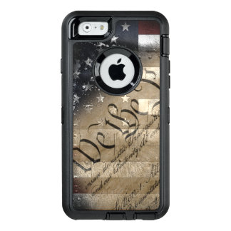 We The People Vintage American Flag OtterBox Defender iPhone Case