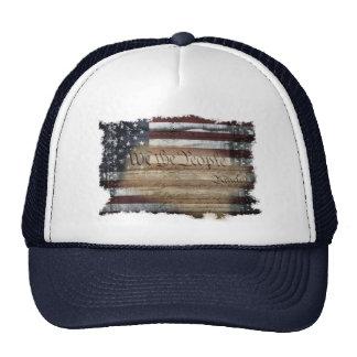 We The People Vintage American Flag Trucker Hat
