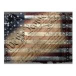 WE THE PEOPLE VINTAGE INDUSTRIAL USA FLAG Postcard