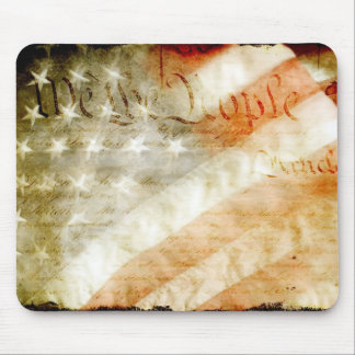 We The People with American Flag Mouse Pad