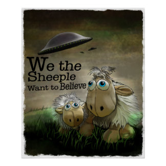 We the Sheeple Poster