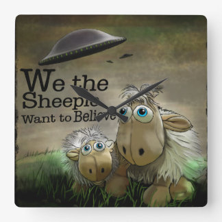 We the Sheeple Wall Clock