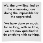 We The Unwilling Posters