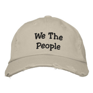 We ThePeople  Distressed Chino Twill Cap Embroidered Baseball Cap