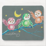 We Three Owls Mouse Pad