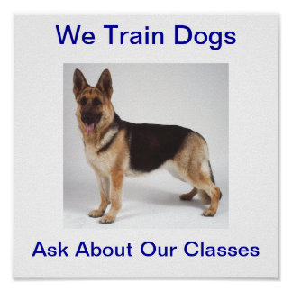 We Train Dogs Ask About Our Classes Sign Poster