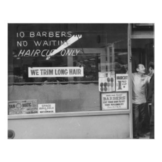 We Trim Long Hair Poster