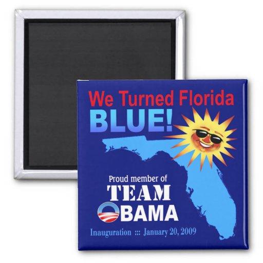 We Turned Florida Blue Magnet (navy)