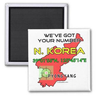 We ve Got Your Number North Korea Refrigerator Magnets