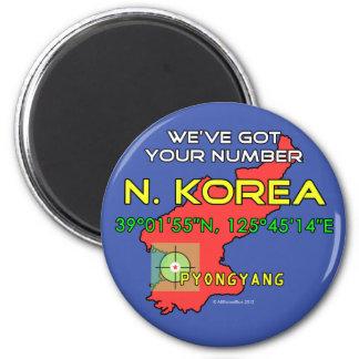 We ve Got Your Number North Korea Refrigerator Magnet