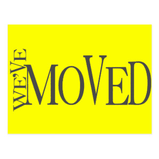 We ve Moved New home announcement Post Card