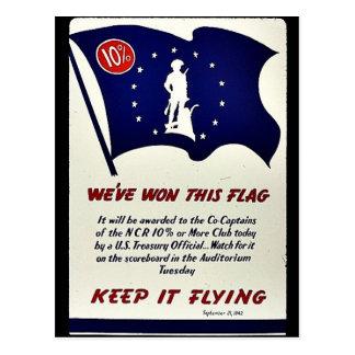 We ve Won This Flag Keep It Flying Postcard