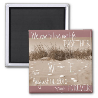 We Vow to Love... Square Magnet