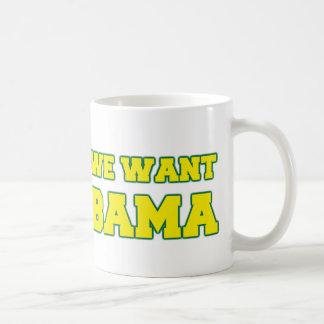 We Want BAMA Basic White Mug