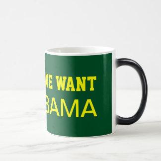 We Want BAMA Morphing Mug